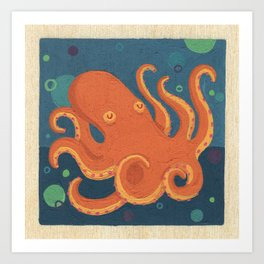 Water Octopus Art Print