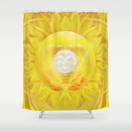 Gold In My Belly (Solar Plexus Chakra) Shower Curtain