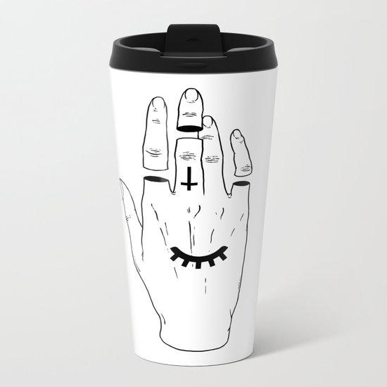 Occult Hand Metal Travel Mug