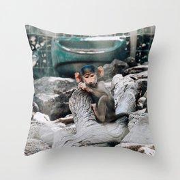 Monkey Business | Darling Downs, Australia Throw Pillow