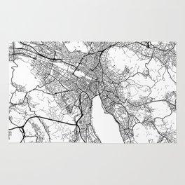 Zurich Map White Rug