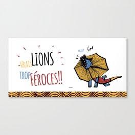 Zodiac Lion Canvas Print