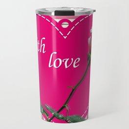 rose with love Travel Mug