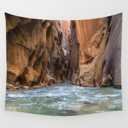Swept Away (The Narrows, Zion National Park, Utah) Wall Tapestry
