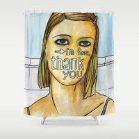 tenenbaum Shower Curtains featuring Margot Tenenbaum. by Piltrafadas Ilustracion