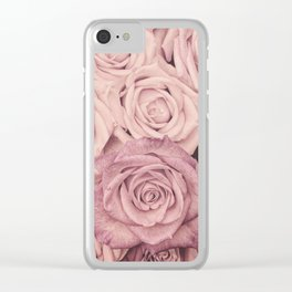 Some People Grumble - Pink Rose Pattern - Roses Clear iPhone Case