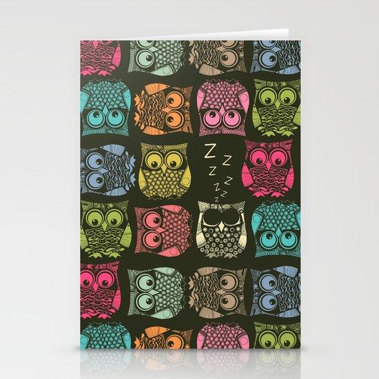 sherbet owls Stationery Cards