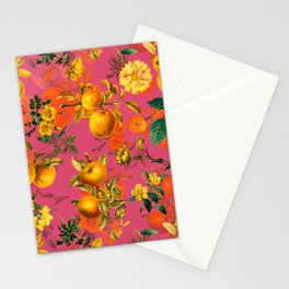 Vintage & Shabby Chic - Summer Golden Apples Pink Flowers Garden Stationery Cards
