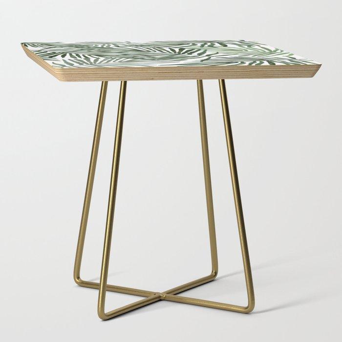 Watercolor simple leaves Side Table