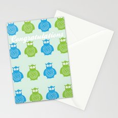 Owls Congratulations Stationery Cards