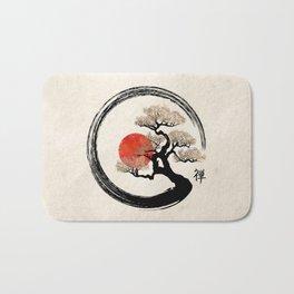 Enso Circle and Bonsai Tree on Canvas Bath Mat