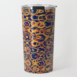 Copper Loops and Swirls Abstract Travel Mug