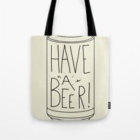 beer Tote Bags featuring Beer by Leo Romanski