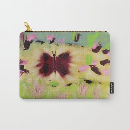 Butterfly Park: Abstract Acrylic Painting of animals Carry-All Pouch