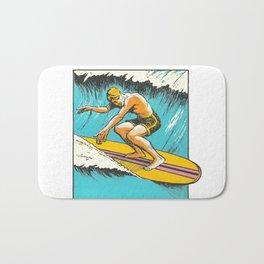 Virginia Beach Retro Vintage Surfer Bath Mat
