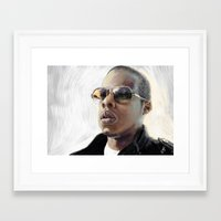 jay z Framed Art Prints featuring Jay-Z by Thomas Bryant