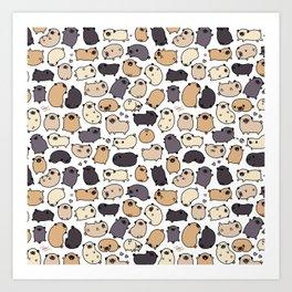 Pug Life Doodle Art Print