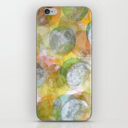 Silver Green Yellow Circles iPhone Skin