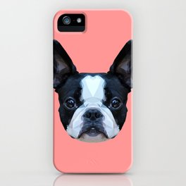 Frenchie / Boston Terrier // Pink iPhone Case