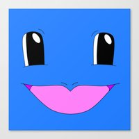 squirtle Canvas Prints featuring Squirtle! by kltj11