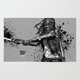Michonne as played by Danai Gurira on AMC's The Walking Dead Rug