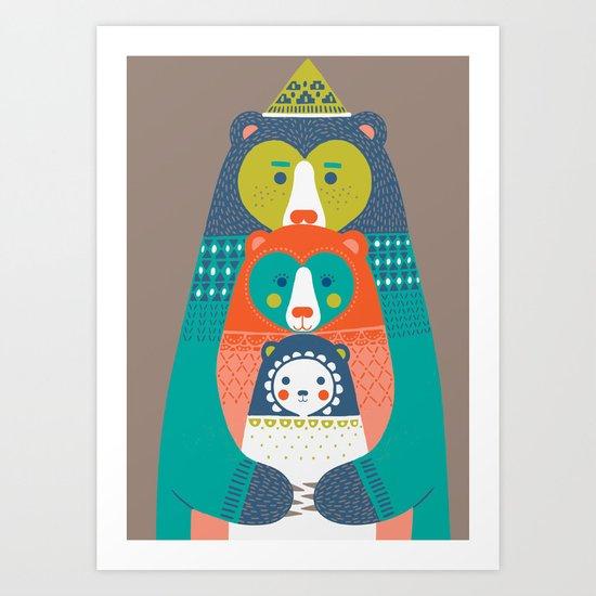 FAMILY BEAR Art Print
