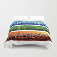 divergent Duvet Covers featuring Divergent by All Things M