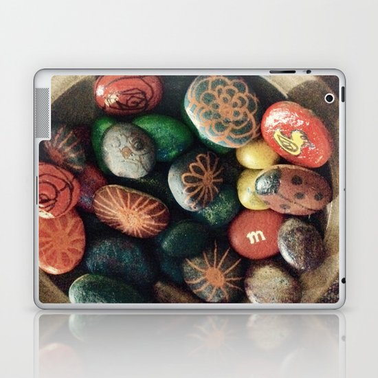 Rock art in ceramic bowl Laptop & iPad Skin