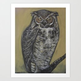 Great Horned Owl Art Print
