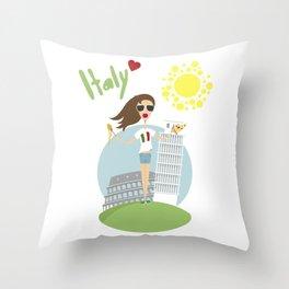 I love Italy Throw Pillow