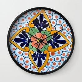 Talavera Nine Wall Clock