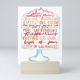 Traditional English Trifle Mini Art Print
