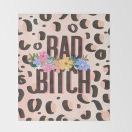 Bad Bitch Throw Blanket