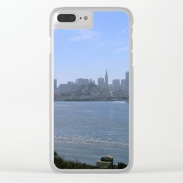 Downtown San Francisco from Alcatraz Clear iPhone Case