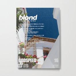 Frank Blond Vintage Godspeed Metal Print