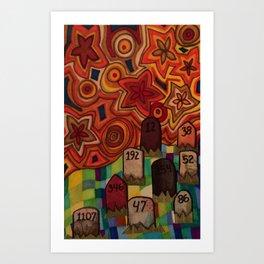 Mile 002 Art Print