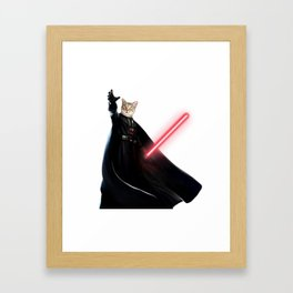 darth vader cat Framed Art Print