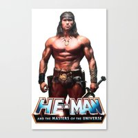 he man Canvas Prints featuring He-Man by MartiniWithATwist