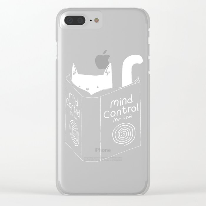 Mind Control 4 Cats Clear iPhone Case