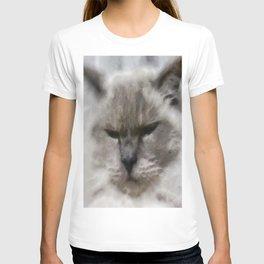 White Persian Cat In Watercolor T-shirt