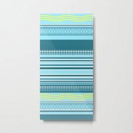 waves and stripes Metal Print