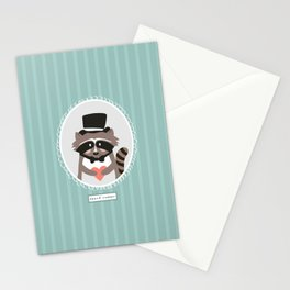 Racoon Heart Robber  Stationery Cards