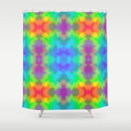 Rainbow Multicolored Watercolor Abstract Tie Dye Shower Curtain