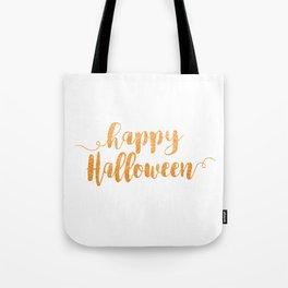 Happy Halloween | Orange Glitter Tote Bag