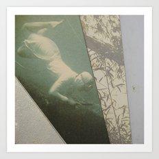 La plongeuse Art Print