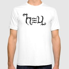 Raise HELL Mens Fitted Tee White SMALL