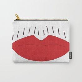 Lipstick Moustache Carry-All Pouch