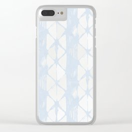 Simply Braided Chevron Sky Blue on Lunar Gray Clear iPhone Case