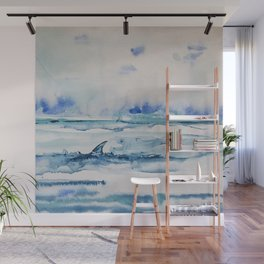 Gliding in shallow water Wall Mural