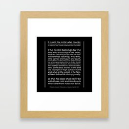 Daring Greatly Quote Framed Art Print